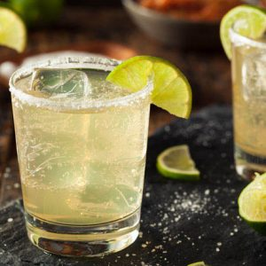 Homemade Classic Margarita Drink with Lime and Salt