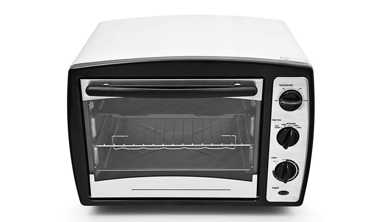 Kitchen oven isolated on white background
