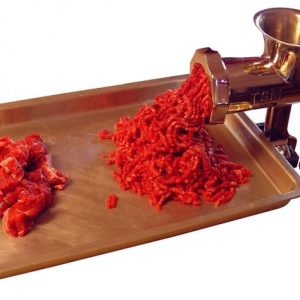 meat grinder working